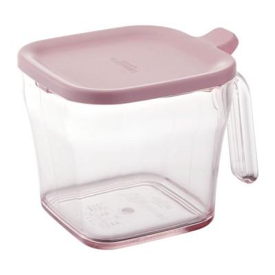 リス リベラリスタ 調味料入れ ピンク 720ml クックポット レギュラー 取っ手 持ち手 スプーン 保存容器  クリアケース  軽量  中身 が 見える キッチン 調味料