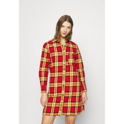 ディッキーズ シャツ レディース トップス NEW IBERIA DRESS - Shirt dress - fiery red