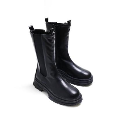 minsobi / [minsobiレディース限定]サイドゴアロングブーツ WOMEN シューズ > ブーツ