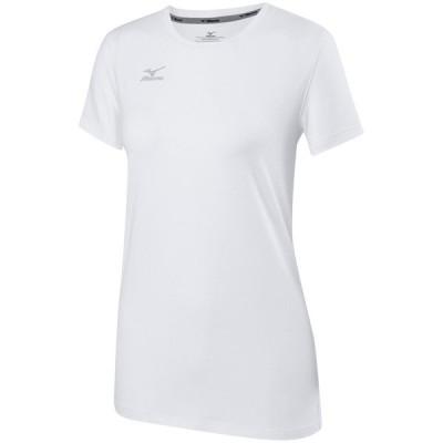 ミズノ シャツ トップス レディース Mizuno Women's Volleyball Attack T-Shirt 2.0 White