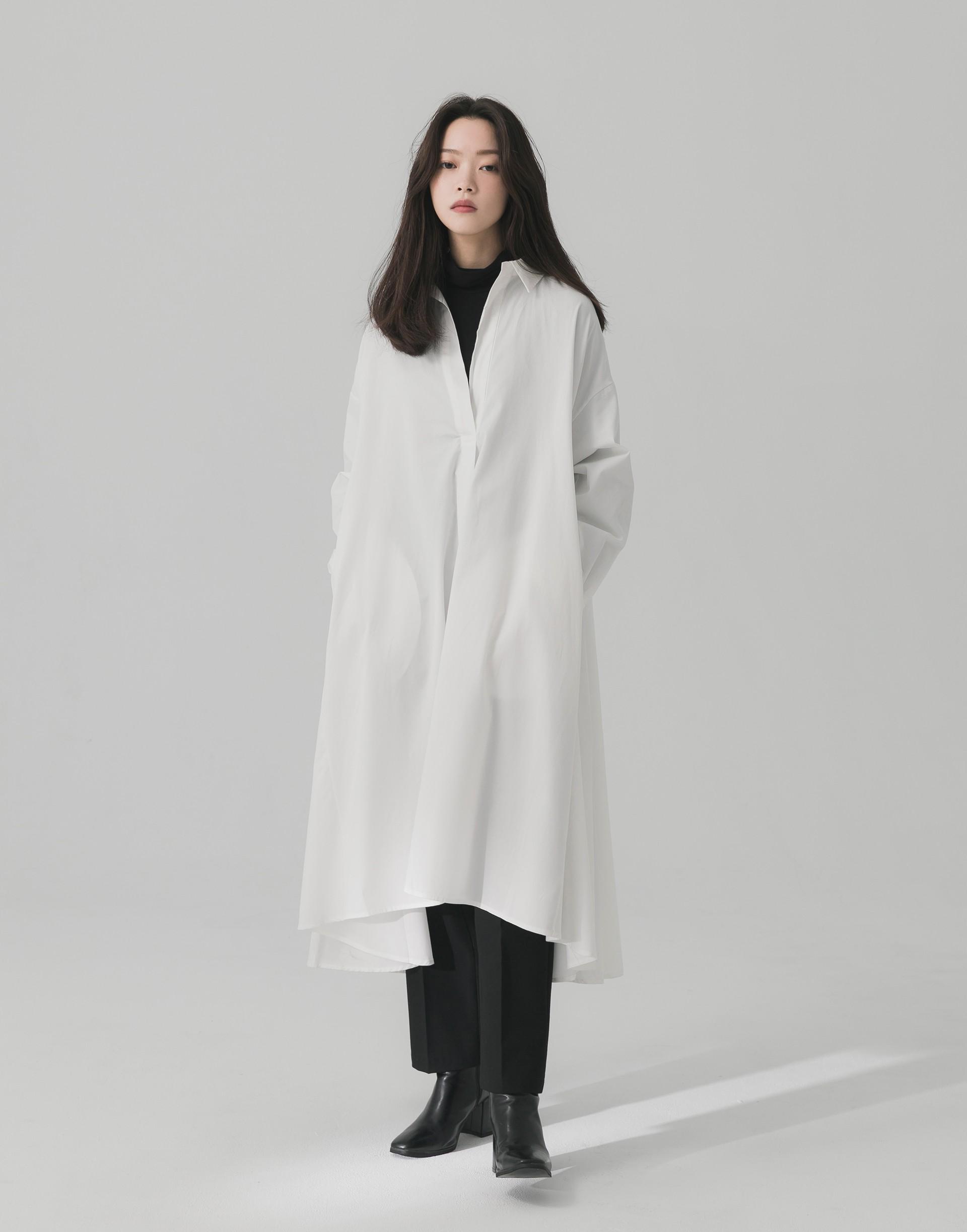 范范限定款長版寬鬆襯衫-女-Genquo