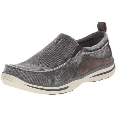 Skechers メンズ Relaxed フィット Elected Drigo スリップ-On Loafer,チャコール,11 D U(海外取寄せ品)