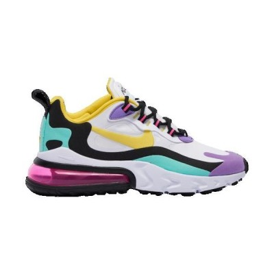 (取寄)ナイキ メンズ エア マックス 270 リアクト Nike Men's Air Max 270 React White Dynamic Yellow Black Bright Violet