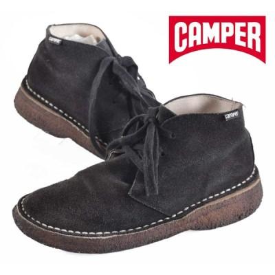 CAMPER カンペール / チャッカブーツ / フレアソール / ブラック スエード / EUR38 JPN24.0cm