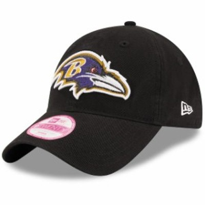New Era ニュー エラ スポーツ用品  New Era Baltimore Ravens Womens Team Glisten 9TWENTY Black Adjustable Hat