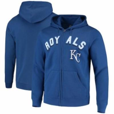 Majestic マジェスティック スポーツ用品  Majestic Kansas City Royals Royal Come Back Win Fleece Full-Zip Hoodie