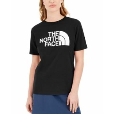 ノースフェイス レディース Tシャツ トップス Women's Half Dome Logo T-Shirt Tnf Black