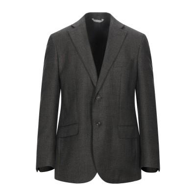 LUBIAM テーラードジャケット ブラック 56 バージンウール 100% テーラードジャケット
