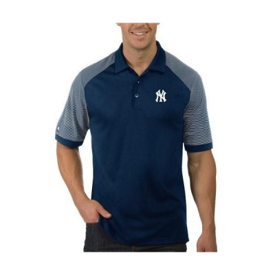 ユニセックス スポーツリーグ メジャーリーグ New York Yankees Antigua Engage Polo - Navy/White Tシャツ