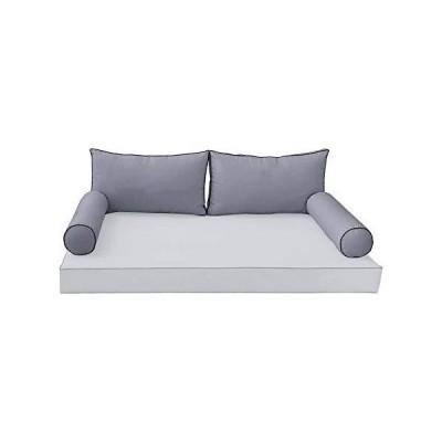 送料無料!Style 2 - AD-001 Full Contrast Pipe Trim Bolster Back Pillow Cushion Slip Cover ONLY