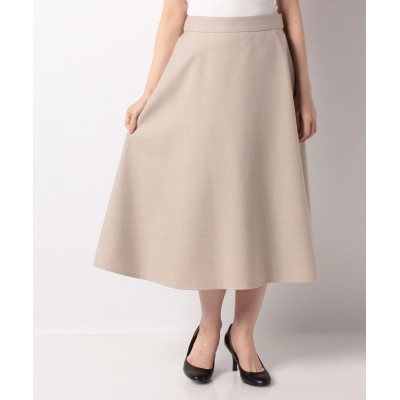 (Leilian/レリアン)【my perfect wardrobe】フレアロングスカ-ト/レディース ベージュ系