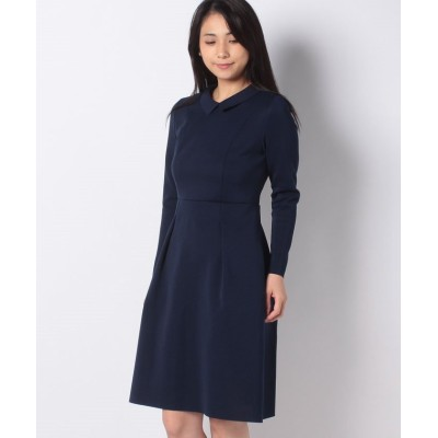 (MISS J/ミス ジェイ)【アンサンブル対応】AMOSSA 襟付きニットドレス/レディース ネイビー