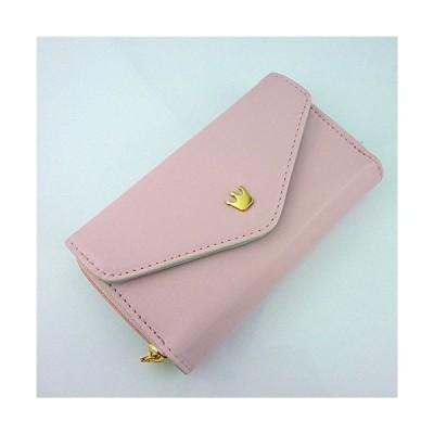 ミニIDクレジットカード 現金 携帯封筒財布P U財布 ハンドバッグポーチ(ピンク)