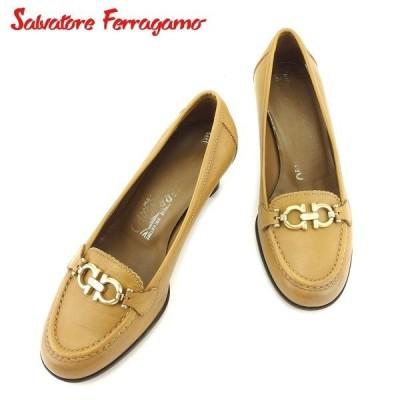 サルヴァトーレ フェラガモ パンプス シューズ 靴 ♯5D ローファー ガンチーニ Salvatore Ferragamo 中古