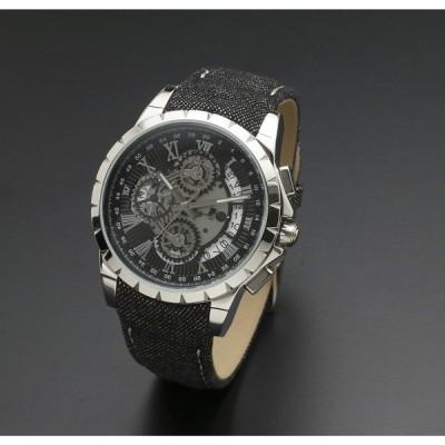 Salvatore Marra SM13119D-SSBK/BK 腕時計 (クオーツ・メンズ)