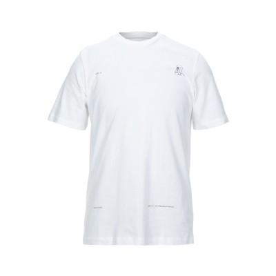 オーエーエムシー OAMC T シャツ ホワイト L コットン 100% / ポリウレタン T シャツ