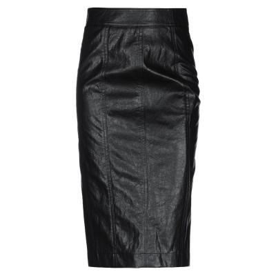 アトス ロンバルディーニ ATOS LOMBARDINI ひざ丈スカート ブラック 38 ポリウレタン 62% / レーヨン 28% / ポリエステ