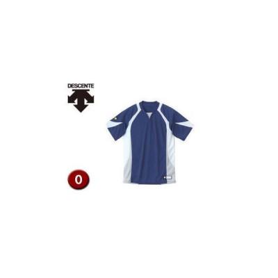 DESCENTE/デサント  DB113-NVWH セカンダリーシャツ 【O】 (ネイビー×ホワイト×シルバー)