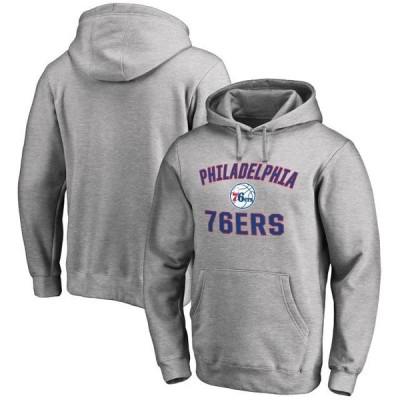 ユニセックス スポーツリーグ バスケットボール Philadelphia 76ers Victory Arch Pullover Hoodie - Ash トレーナー