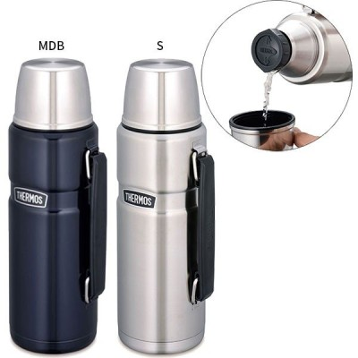 1.2L サーモス メンズ レディース ジュニア ステンレスボトル 水筒 魔法瓶 保温 保冷 コップ付き ROB-001 ROB001
