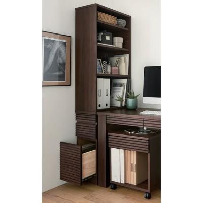家具 収納 本棚 ラック シェルフ 棚 Gulf/ガルフ 格子デザイン デスクサイドすき間ラック H89107