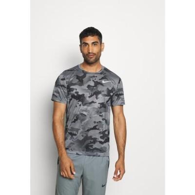 ナイキ メンズ スポーツ用品 DRY TEE - Print T-shirt - smoke grey/grey fog