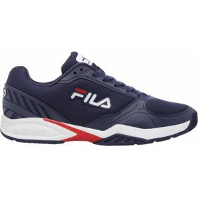 フィラ メンズ スニーカー シューズ Fila Men's Volley Zone Pickleball Shoes Red/White/Blue