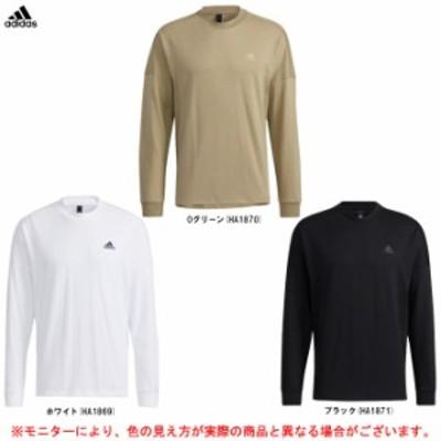 adidas(アディダス)ルーズフィット長袖Tシャツ(CV102)スポーツ ウェア トレーニング ランニング ジム カジュアル 長袖 Tシャツ メン