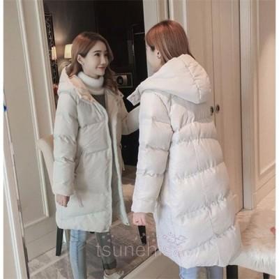 中綿ジャケットレディースロングコートダウンコートアウターゆったり冬着痩せ防寒服202120代30代40代50代