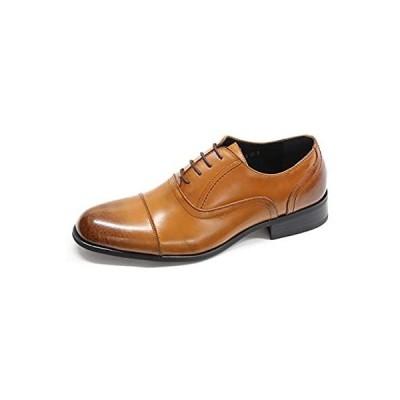[エスメイク] 日本製 本革 ビジネスシューズ ブラック ブラウン ロングノーズすぎない革靴 7318/7319/7320/7321 (25.5cm,