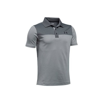 Under Armour Boys ' Performance Blocked Poloシャツ グレー
