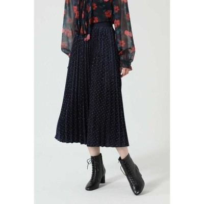 ROSE BUD / ローズ バッド ドット×プリーツスカート