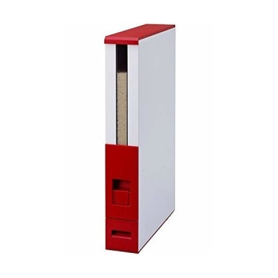 エムケー精工 米びつ 12kg スリム 幅10cm 鋼板製(頑丈/サビにくい) ライスストッカー レバー方式 ライスエース