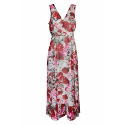 Maxi  ファッション ドレス Inc international concepts red multi floral print sleeveless maxi dress 10