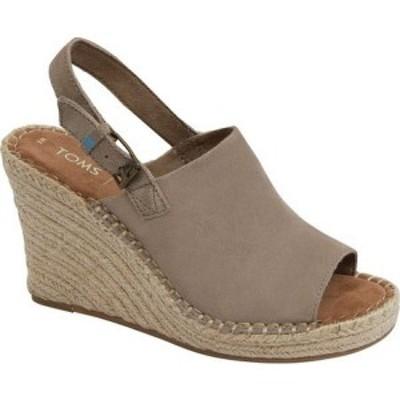 トムス TOMS レディース サンダル・ミュール ウェッジソール シューズ・靴 Monica Slingback Wedge Sandal Desert Taupe/Leather