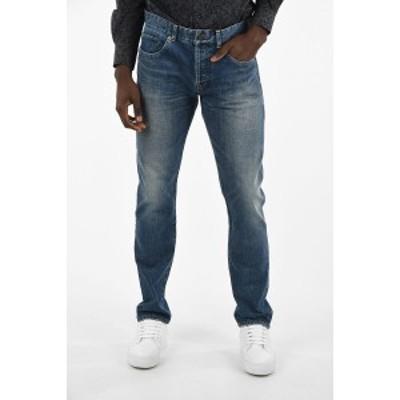 SAINT LAURENT PARIS/イヴ サンローラン Blue メンズ Stonewashed Slim Fit Jeans 19cm dk