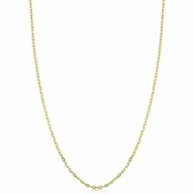 Kooljewelry 14k Yellow Gold Cable Chain Necklace (1 mm, 18 inch)