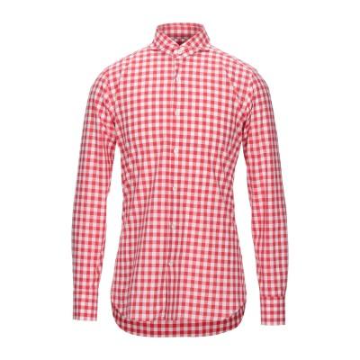 GUGLIELMINOTTI シャツ レッド 39 コットン 100% シャツ