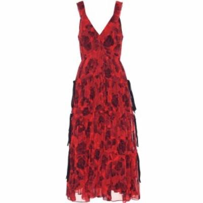 プロエンザ スクーラー Proenza Schouler レディース ワンピース ワンピース・ドレス Silk crepe chiffon dress Clay Black
