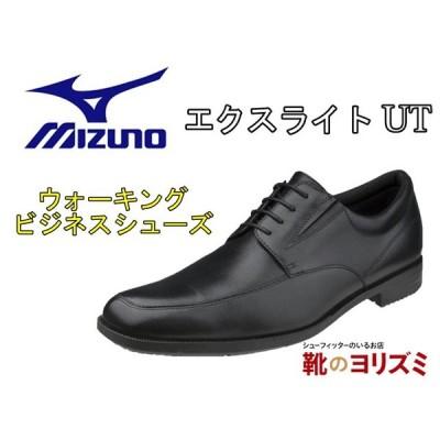ミズノ MIZUNO B1GM2002 エクスライト UT ブラック  メンズ ビジネスシューズ ウォーキングシューズ  紳士靴 本革 冠婚葬祭 3E相当 幅広