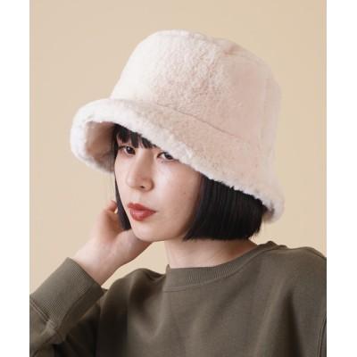 SPINNS / 【8カラー展開】モコモコ エコファーバケットハット WOMEN 帽子 > ハット