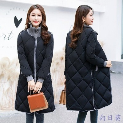 ダウンジャケット レディース 40代 ダウンコート 立襟 ロング 軽量 冬アウター ダウン綿コート 防寒 コート 大きいサイズ 4色