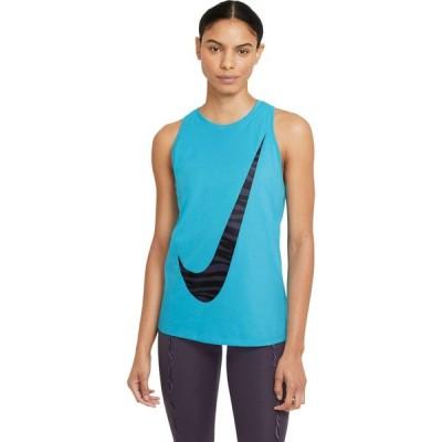 ナイキ Nike レディース タンクトップ ドライフィット トップス Dry Tank Dri-FIT(TM) Cotton Icon Clash Chlorine Blue