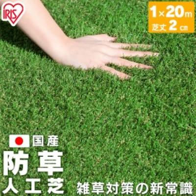 防草人工芝 芝丈2cm BP-20120 1m×20m アイリスオーヤマ 送料無料
