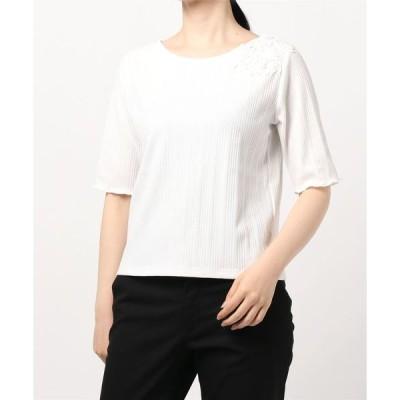 tシャツ Tシャツ フラワーショルダープルオーバー(0R15-08140)