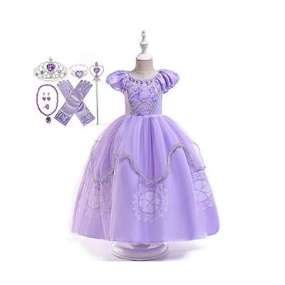 Elmia エルミア ハロウィン 仮装 子供 ドレス ドレス キッズコスチュームドレス プリンセス コスチューム 衣装 なりきり 付属品7セ