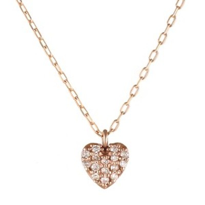 ネックレス ダイヤモンド K10 ピンクゴールド 10金 ダイヤ ハート