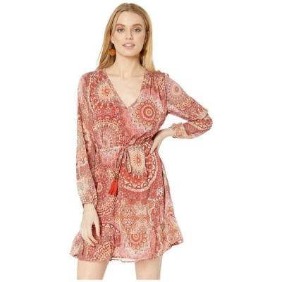 ミスミー レディース ワンピース トップス Paisley Print Long Sleeve Dress