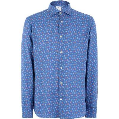 ドルモア DRUMOHR メンズ シャツ トップス linen shirt Slate blue