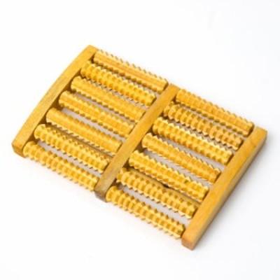 ベトナムのギザギザツボ押し ローリングマッサージ機 足裏用 / 木製 インド 健康器具 美容と健康 エスニック アジア 雑貨